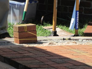 Checking paver alignment